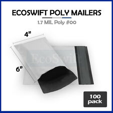 100 4x6 White Poly Mailers Shipping Envelopes Self Sealing Bags 17 Mil 4 X 6