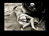Sexy Girl Stockings PHOTO Car Repair, Flapper Gorgeous Heels Hot Legs 1920s
