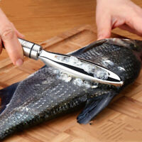 Fish Scale Fast Remover Stainless Steel Cleaner Scaler Scraper Kitchen Peeler *1