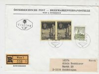 Austria 1966 Wien Cancels Registered FDC Buildings Stamps Cover Ref 27496