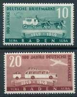 BADEN FRENCH OCCUPATION Mi. #54-55 mint stamp set! CV $7.20