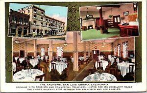 Postcard Hotel Andrews Hotel and Restaurant in San Luis Obispo California~134361