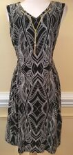Womens JM COLLECTIONS Black Dress with Gold Chain Collar  Size 12P or XLP  NWT