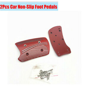 Automatic Transmission Car Modified Brake Clutch Foot Pads Pedals Cover Red 2x