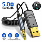 USB Wireless Bluetooth 5.0 Audio Transmitter Receiver AUX Adapter For PC TV Car