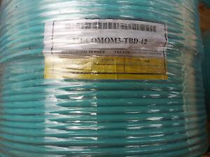Commscope 12 Fiber 371-COMOM3-TBD-12 Optic Distribution Riser Cable 600' SPOOLS!