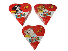 Set of 3 Kinder Surprise Valentines Day Heart 2 Packs Eggs Toys Rare Canada 2017