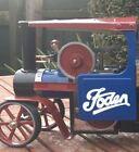 2x Foden white vinyl decals for Mamod sw1 steam wagon cab door