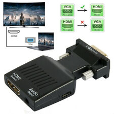 Male VGA to Female HDMI Adapter with Audio Converter for HDTV TV Monitor 1080P