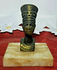 New listing Vintage Brass Pharaoh Figurine Paperweight Statue