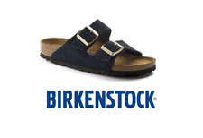 Birkenstock Arizona 2 Strap Suede Leather Soft Footbed Unisex Regular Fit Sandal