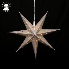 Led Estrellas de Adviento Plegable Ø 45 Exteriores Navidad 7 Zack Plata 96224