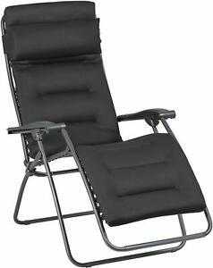 Lafuma RSXA Clip Air Comfort Acier Premium Padded Recliner Zero Gravity Chair