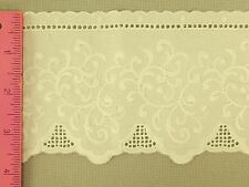 Shabby Cottage Charisma Ivory  Embroidered 4 inch  100% cotton lace Trim Cream