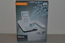 Creative Xdock X-Fi Sound Card Music System Dock & Charger for iPod SB0800 White