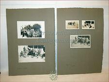 5 Foto di gruppo Cagliari SARDEGNA 1928 Varie personalità a passeggio al MOLO?