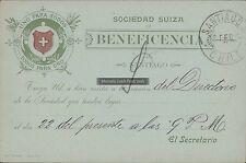 CHILE POSTAL STATIONARY SOCIEDAD SUIZA DE BENEFICENCIA
