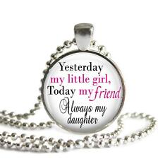 Yesterday My Little Girl Daughter Pendant Charm Keychain Family Love Gift Idea