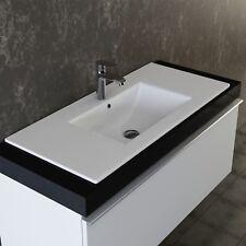 VILSTEIN© Keramik Einbauwaschbecken Waschbecken Einbau Einsatz Waschtisch 92 cm