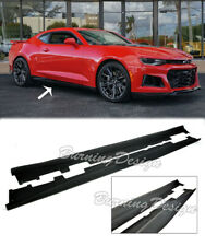 For 16-Up Camaro RS | SS PRIMER BLACK Side Skirts Panel Extension ZL1 Style