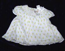 Little Girls Size 6-9 Months Lemon Pattern Dress