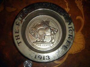 USA, BUFFALO NICKEL Decorative Metallic Ash Tray