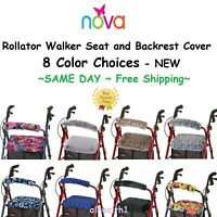 Backrest and Seat Cover for rollator walkers Nova and Universal fit. ~Free Ship~