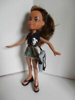 Bratz doll Long light brown hair denim skirt top dress slacks & shoulder bag