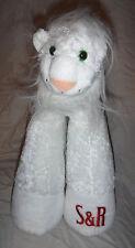 "SIEGFRIED & ROY White Lion Las Vegas 16"" Weighted Plush Soft Toy Stuffed Animal"