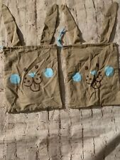 Rabbit Bags For Gift Bags Set Of Two Brown & Blue
