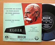 "LW 5047 Elgar Introduction & Allegro Serenade For Strings Collins Decca 10"" NM"