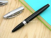 BAOER 100 Black And Sliver Fountain Pen With Fine Nib