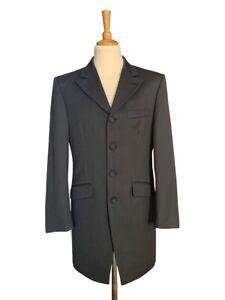 Grey Prince Edward  3/4 length 100% Wool Jacket  - Wedding / Formal / Teddy Boy