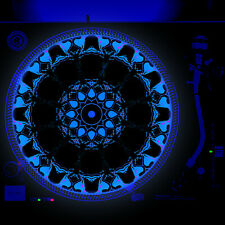 Dj Turntable Slipmat 12 inch Glow under Blacklight - Groovy Tulip
