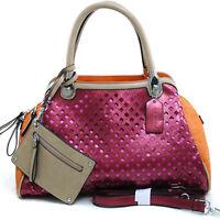 New Womens Handbags Faux Leather Satchel Tote Bags Shoulder Bag Purse w/ Wallet