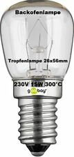 2 x Illuminant Oven Lamp 300° E14 220v 15w or 25w Clear Your Quality