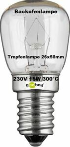 2x Illuminant Oven Lamp 300° E14 220V 15W Or 25W Clear Your Choice