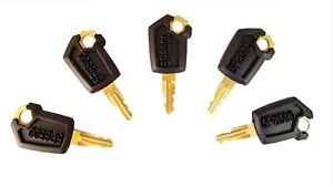 5 Caterpillar CAT Heavy Equipment Ignition Keys 5P8500 New Style Ships Free!