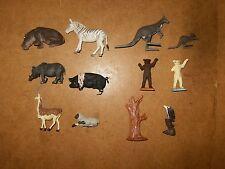 Lot d'anciennes figurines, animaux en plastique (12 pièces) - BRITAINS - 70's