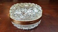 Glass Lead Crystal Trinket Dish Kristal Zajecar Made in Yugoslavia