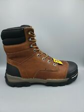 "Carhartt CME8355 Mens 8"" WP Brown Leather Industrial Work Boot Size 12 M"