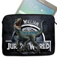 """Personalised Tablet Cover DINOSAUR BLUE Neoprene Sleeve Case Gift 7"""" - 10"""" KS109"""