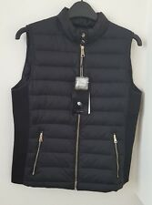 ZARA BLACK LIGHT WEIGHT FEATHER DOWN  PUFFER QUILTED COAT/WAISTCOAT NEW SIZE M