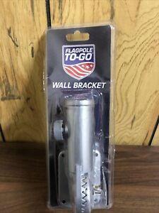 Flagpole-To-Go Flagpole Wall Bracket - Silver Brand New