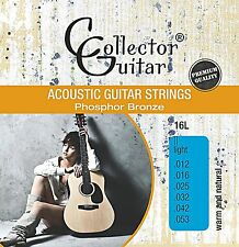 CollectorGuitar 16L Akustik- Westerngitarren-Saiten Phosphor Bronze Light