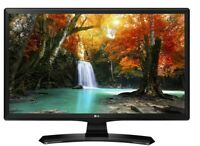 "LG Monitor TV LED 28"" 16:9 HD Ready Satellitare Certificato tivùsat  Black Hotel"
