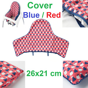 IKEA ANTILOP Cover Baby Children High Chair Supporting Cushion Cover Blue / Red