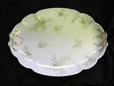 GDA Gerard Dufraisseix and Abbot Limoges Platter Green Floral with Gold Bows