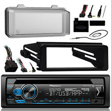 98-13 FLHX Harley Install Adapter Radio Kit, CD Receiver Antenna and Radio Cover