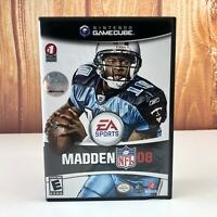 Madden 08 (Nintendo GameCube, 2007) Complete CIB Video Game Tested NFL
